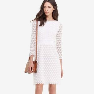 Diane von Furstenberg White Lace Overlay Dress 14